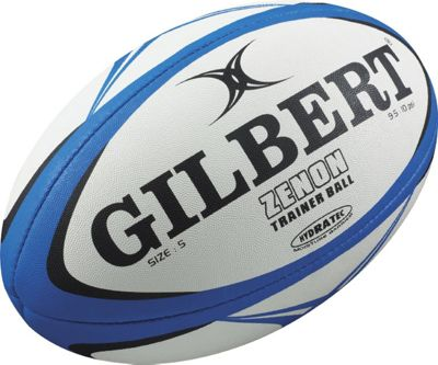 Gilbert Mens Zenon Training Rugby Ball BLUE/BLACK Size 5
