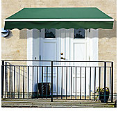 Outsunny 4m x 3m Garden Awning with Winding Handle in Green