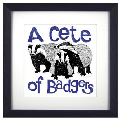 Animal Friends Framed Print - Badgers
