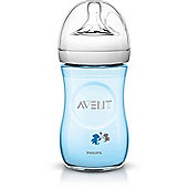 Philips Avent Natural Decorated Bottle - 260ml/9oz - Blue