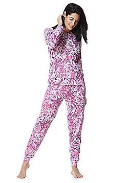 F&F Confetti Print Twosie Pyjamas - Pink