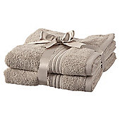 Hygro Cotton 2 Pack Hand Towels - Taupe