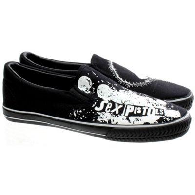Draven Sex Pistols Sid Vicious Slip On Black/White Shoe
