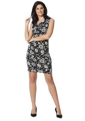 Mela London Cowl Neck Sleeveless Dress Black 16