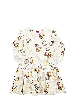 Disney Beauty and the Beast Frill Trim Dress - Yellow