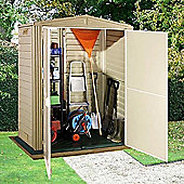 BillyOh Yardmate Garden Storage Plastic Shed with Vinyl Floor - 5x3