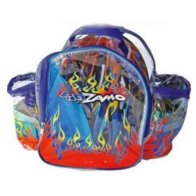 Kidzamo Bimbo  Blue Cycling Helmet, Knee/Elbow Pads, Bottle and Rucksack Gift Set