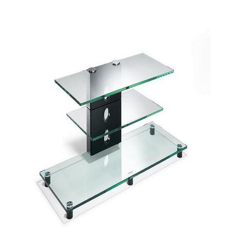 Elite Premium TV Stand - Transparent Glass - 80cm