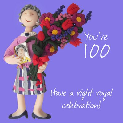 Holy Mackerel Happy 100th Birthday. Have a Right Royal Celebration Greetings Card