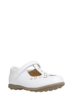 F&F Patent T-Bar Shoes - White