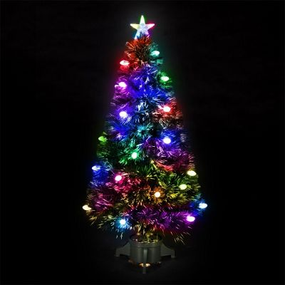 3ft Frosted Bauble Fibre Optic Christmas Tree With 90 LEDs