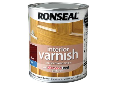 Ronseal Interior Varnish Quick Dry Satin Teak 750ml