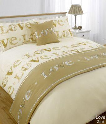 Dreamscene Love Duvet Quilt Bedding Bed In A Bag Cushion Cover Runner