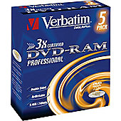 Verbatim DVD-RAM 3x DL Type IV Jewel Case