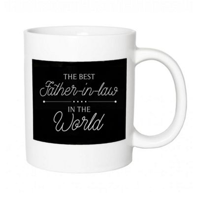 Original Ceramic 'The Best Father-In-Law In The World' Black & White Mug