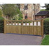 Fortress Double Wooden Driveway Gate, 90x300cm