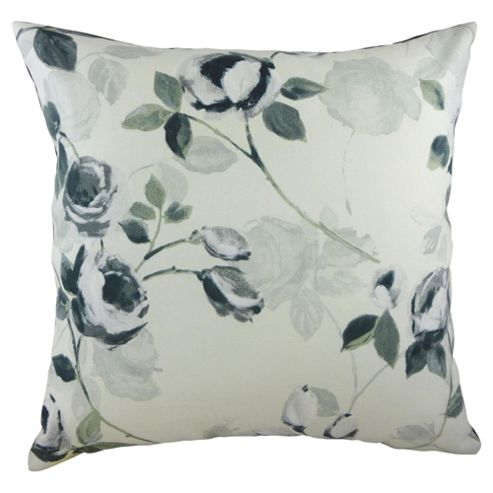 Melrose Silhouette Roses Floral Cushion