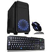 Cube Fast Ryzen 3 Quad Core Gaming PC Bundle 8GB 1TB WIFI GT 1030 2GB GPU No OS