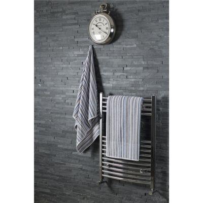 Silentnight 100% Cotton 525gsm 2 Piece Bath Towel Set - Multi Stripe