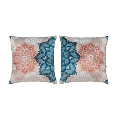 Henna Design Extra Soft Luxury Velvet Twin Cushion Sets of Two