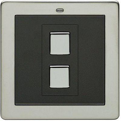 Megaman LightwaveRF 3V 1 Gang Wire-free Switch (Chrome)