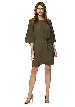 F&F Tie Front Dress - Khaki