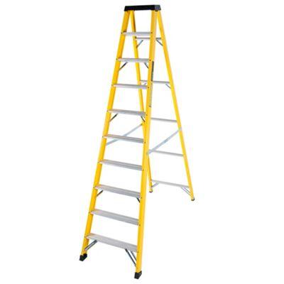 TB Davies Trade GRP Fibreglass 10 Tread Swingback Step Ladder