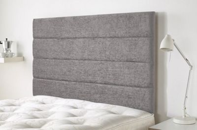 Lune headboard in Firenza Velour - Silver - (3ft)