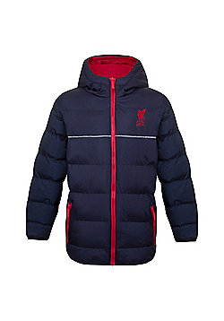 Liverpool FC Boys Quilted Jacket - Navy