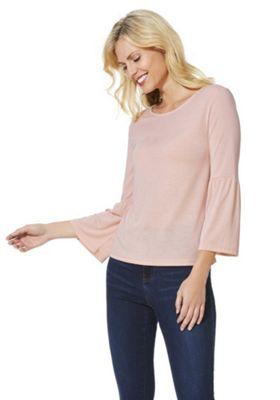 JDY Jersey Bell Sleeve Top Blush Pink L