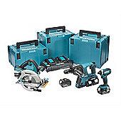 Makita DLX3049PTJ 3 Piece Kit 18 Volt 4 x 5.0Ah Li-ion