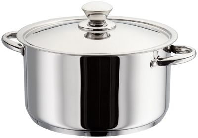 Judge Platina Mirror Polished Stainless Steel Vented Induction Casserole Pot Pan Dish 24cm
