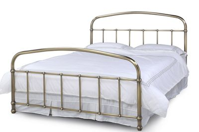 Lichfield Antiqued Brass Dormitory Metal Bed Frame