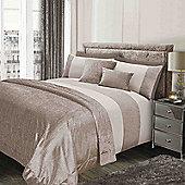 Sienna Glitter Duvet Cover with Pillow Case Sparkle Velvet Bedding Set - Gold