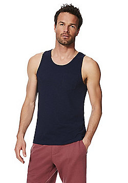F&F Slub Jersey Vest Top with As New Technology - Navy