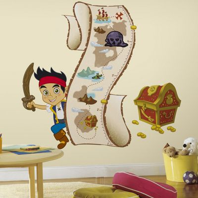 Disney Wall Stickers, Kids Wall Stickers, Jake and the Never Land Pirates Height Chart Wall Stickers
