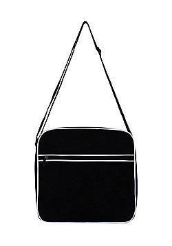 Black Retro Flight Bag