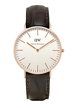 Daniel Wellington York Rose Ladies Leather Watch 0510DW
