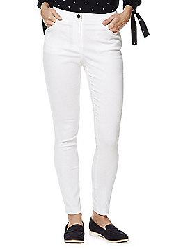 F&F 5 Pocket Skinny Leg Trousers - White