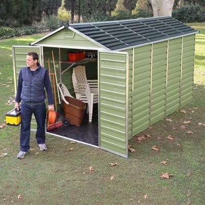 Palram 12x6 Green Plastic Apex Shed