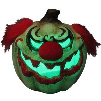 Halloween Props Evil Clown Light Up Pumpkin - 63cm