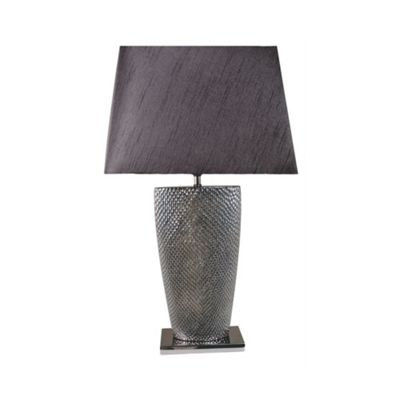 Pewter Bahama Table Lamp with 17 inch Black Shade