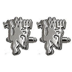 Manchester United FC Chrome Cufflinks Gift Boxed