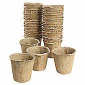 8cm Biodegradable Fibre Round Peat Pots - 72pc Multipack
