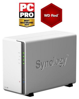 Synology DiskStation DS216j/12TB-RED 2-Bay 12TB(2x6TB WD RED) Desktop NAS Solution