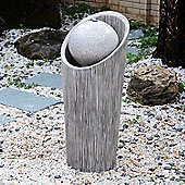 Outsunny Ball Water Fountain Outdoor Indoor Cascade Sphere Round Stone LED