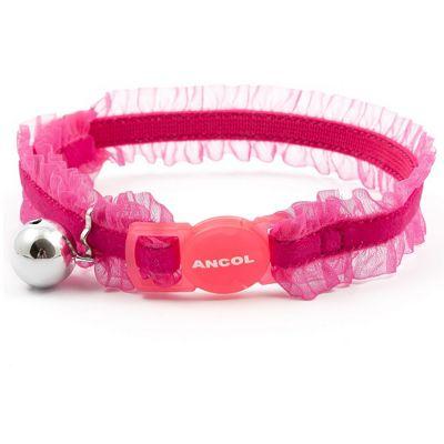 Ancol Velvet Frill Cat Collar - Pink
