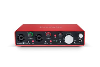 Focusrite Scarlett 2i4 (2nd Gen) USB 2 In 4 Out Audio Interface