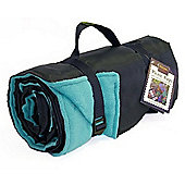 Tweedmill Textiles Rug Roll Waterproof Fleece Picnic Blanket Rug in Blue