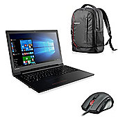 "Lenovo V110-15ISK 80TL00A9UK 15.6"" Laptop Intel Core i3-6006U 4GB 500GB with Lenovo Backpack & Wireless Mouse"
